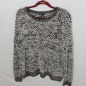 Staccato sweater knitted size small black white